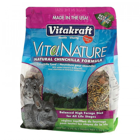 Vitakraft VitaNature Natural Chinchilla Formula Food alternate img #1