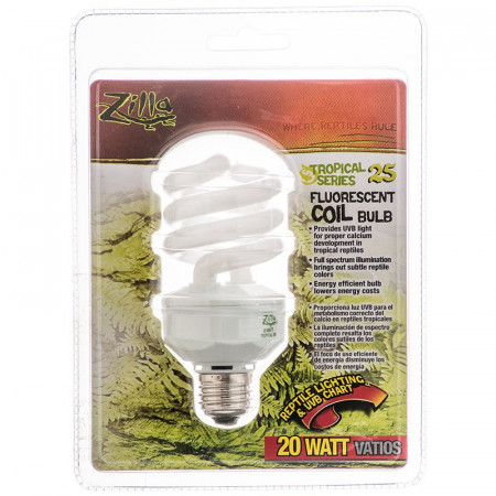 Zilla Tropical 25 Fluorescent Coil Bulb With Uvb