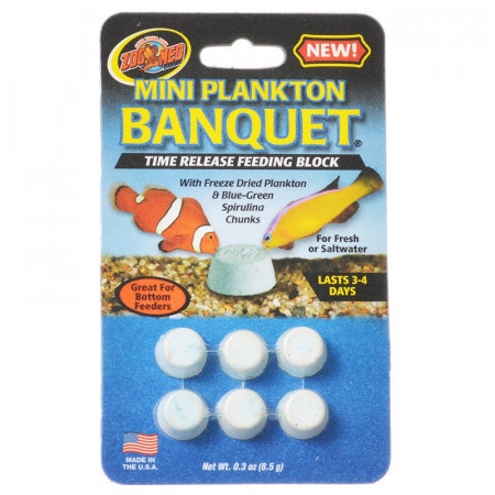Zoo Med Mini Plankton Banquet Time Release Feeding Block alternate img #1