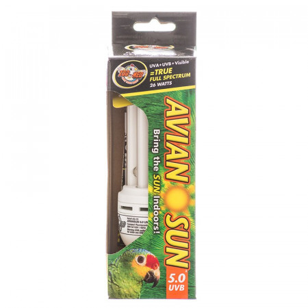 Zoo Med Avian Sun 5.0 UVB Compact Flourescent Bulb alternate img #1