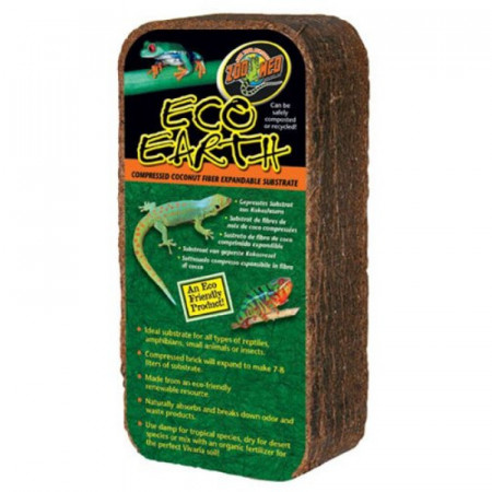 Zoo Med Eco Earth Compressed Coconut Fiber Substrate alternate img #1