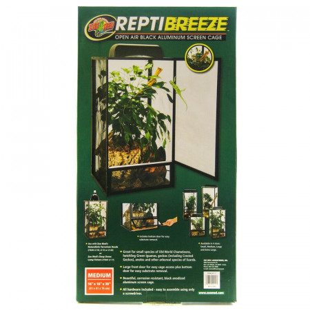Zoo Med ReptiBreeze Open Air Black Aluminum Screen Cage alternate img #1