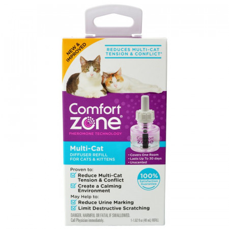 Comfort Zone Multi-Cat Calming Diffuser Refill for Cats & Kittens alternate img #1