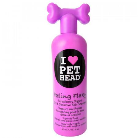Pet Head Feeling Flaky Dry & Sensitive Skin Shampoo - Strawberry Yogurt alternate img #1
