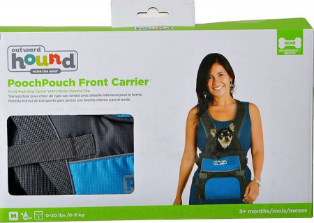 Outward Hound Pooch Pouch Front Carrier - Blue alternate img #2