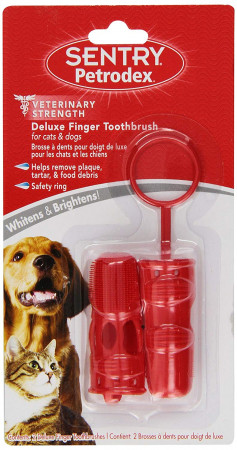 Sentry Petrodex Deluxe Finger Toothbrush for Cats and Dogs alternate img #1