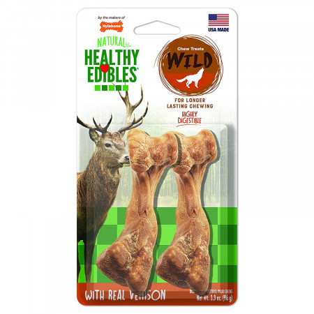 Nylabone Healthy Edibles Natural Wild Venison Chew Treats - Medium alternate img #1