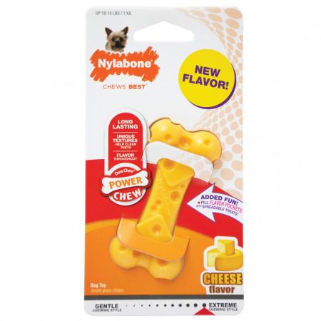 Nylabone Dura Chew Power Chew Cheese Bone Dog Toy - Petite alternate img #1