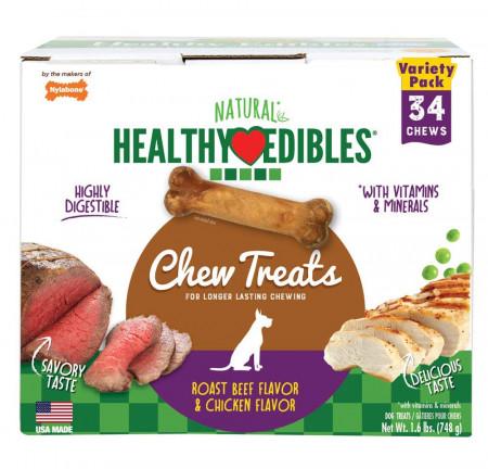 Nylabone Healthy Edibles Variety Pack - Roast Beef & Chicken - Petite alternate img #1