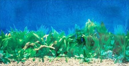 Penn Plax Double-Back Aquarium Background Deep Blue Sea / Amazon Waters alternate img #3