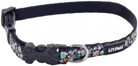 Li'L Pals Reflective Collar - Teal and Orange Paws alternate img #1
