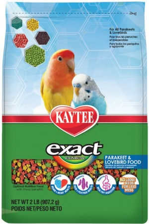 Kaytee Exact Rainbow Optimal Nutrition Diet - Parakeet & Lovebird alternate img #1