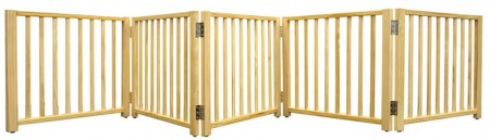 Four Paws 5 Panel Smart Folding Gate Wood alternate img #2