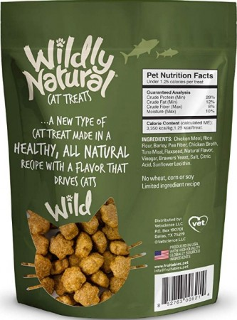 Fruitables Wildly Natural Tuna Flavor Cat Treats alternate img #2