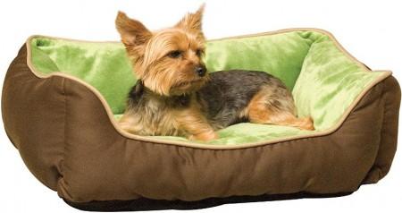 K&H Pet Self-Warming Lounge Sleeper - Mocha & Green alternate img #2