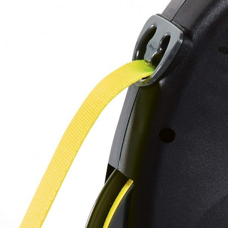 Flexi Giant Retractable Tape Dog Leash - Black / Neon alternate img #3