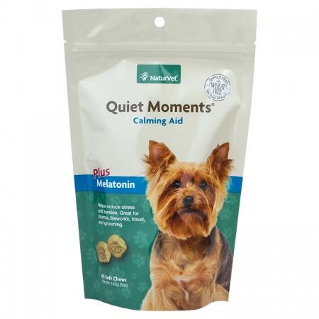 NaturVet Quiet Moments Calming Aid plus Melatonin Dog Chews alternate img #1