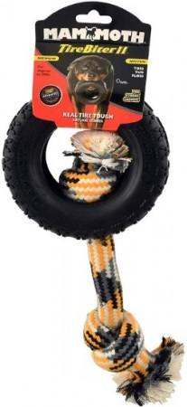 Mammoth Tirebiter II Dog Toy with Rope Medium alternate img #1