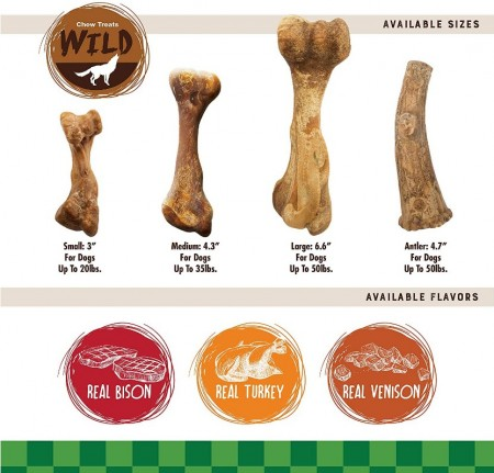 Nylabone Healthy Edibles Natural Wild Bison Chew Treats - Small alternate img #3