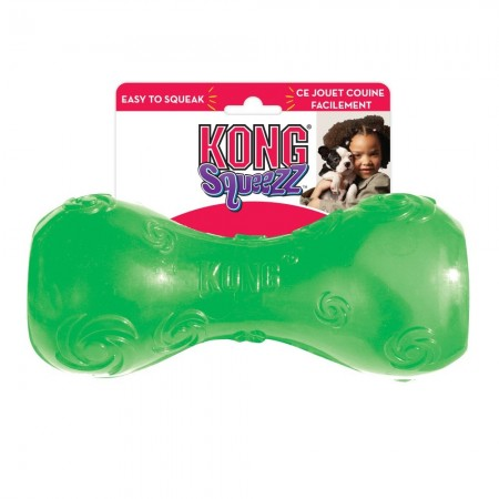 KONG Squeezz Dumbbell Dog Toy alternate img #1