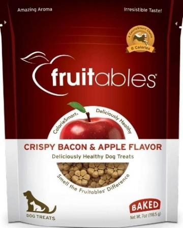 Fruitables Crispy Bacon & Apple Flavor Crunchy Dog Treats alternate img #1