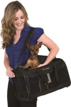 Petmate Soft Sided Kennel Cab Pet Carrier - Black alternate img #4