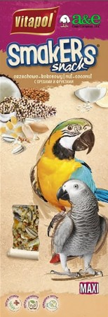A&E Cage Company Smakers Parrot MAXI Nut/Coconut Treat Sticks alternate img #1