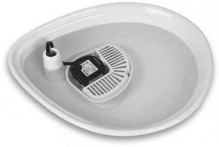 Pioneer Pet Raindrop Ceramic Drinking Fountain - White alternate img #5