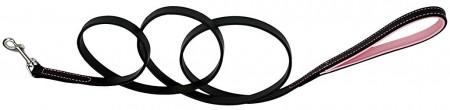 CircleT Fashion Leather Leash Black/Pink alternate img #1
