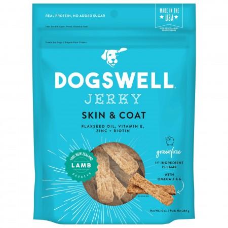Dogswell Jerky Skin & Coat Dog Treats - Lamb alternate img #1