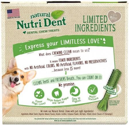 Nylabone Natural Nutri Dent Fresh Breath Limited Ingredients Large Dog Chews alternate img #2