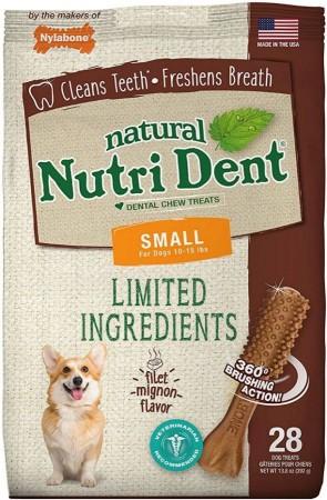 Nylabone Natural Nutri Dent Filet Mignon Limited Ingredients Small Dog Chews alternate img #1