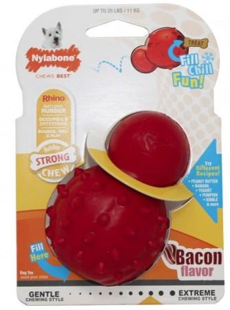 Nylabone Rhino Stuffable Dog Chew Toy - Bacon Flavor - Regular alternate img #1
