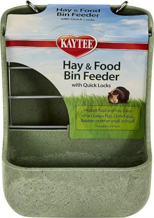 Kaytee Hay & Food Bin with Quick Locks Small Animal Feeder alternate img #1