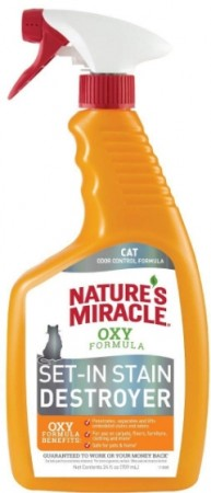 Natures Miracle Just for Cats Orange Oxy Stain and Odor Remover alternate img #1