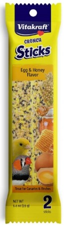 Vitakraft Crunch Sticks Egg and Honey Flavor Treats for Canaries and Finches alternate img #1