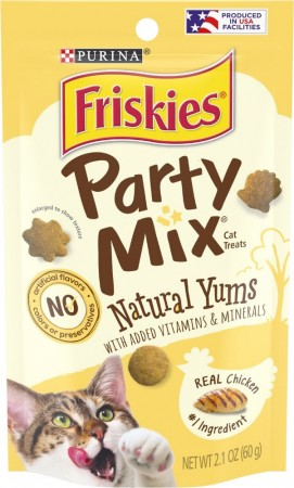 Friskies Party Mix Cat Treats Natural Yums with Real Chicken alternate img #1