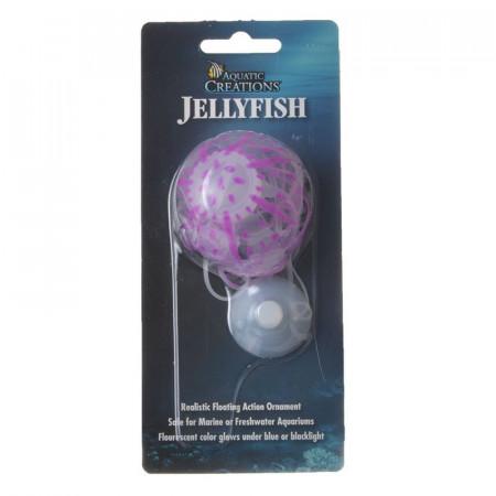 Aquatic Creations Jellyfish Aquarium Ornament - Purple alternate img #1