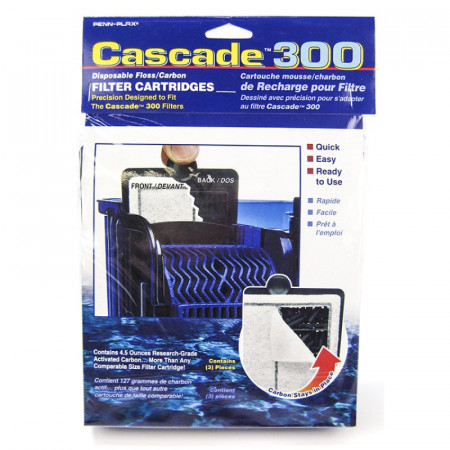 Cascade Disposable Floss/Carbon Filter Cartridges for 300 Power Filter alternate img #1