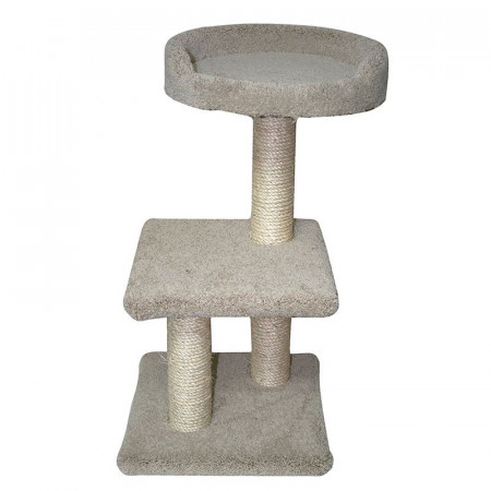 North American Classy Kitty 2-Tier Cat Tree with Bed alternate img #1