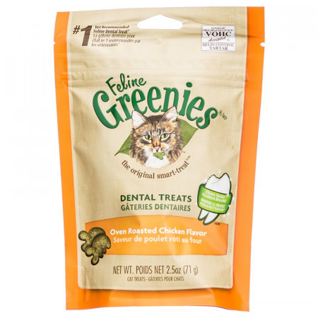 Greenies Feline Dental Treats - Oven Roasted Chicken Flavor alternate img #1
