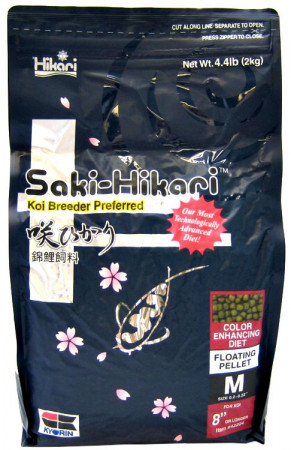 Hikari Saki-Hikari Color Enhancing Floating Medium Pellet Koi Food alternate img #1