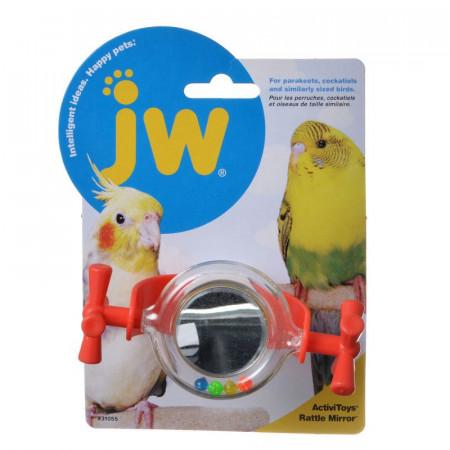 JW Insight Rattle Mirror Bird Toy alternate img #1