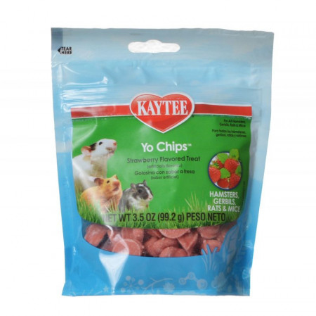 Kaytee Fiesta Yogurt Chips for Small Animals - Strawberry alternate img #1