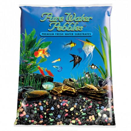 Pure Water Pebbles Aquarium Gravel - Black Beauty Pebble Mix alternate img #1