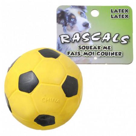 Coastal Pet Rascals Latex Soccer Ball - Yellow alternate img #1
