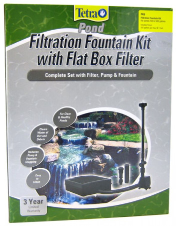 Tetra Pond Filtration Fountain Kit with Flat Box Filter alternate img #1