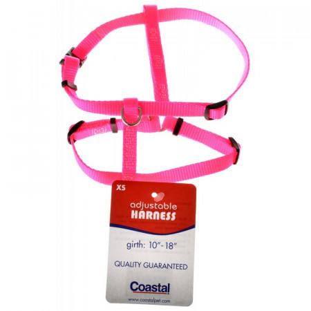 Tuff Collar Nylon Adjustable Harness - Neon Pink alternate img #1