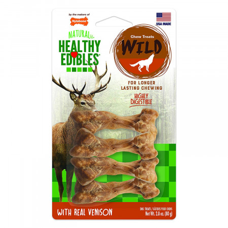 Nylabone Healthy Edibles Natural Wild Venison Chew Treats - Small alternate img #1