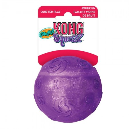 KONG Squeezz Crackle Ball Dog Toy - Assorted Colors alternate img #1